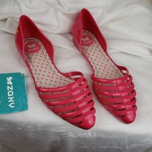 Zaxy Pink Jelly Shoes Size 5